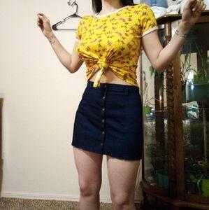 Forever 21 Denim Button Up Skirt